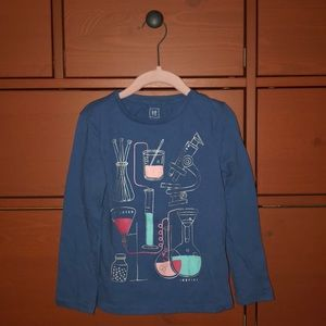 GAP girls long sleeve tee shirt. Chemistry design.